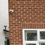Close up view of home with CCTV camera installed