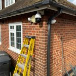 Side view of CCTV camera on residential property in Essex