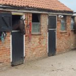 Equestrian stables with cctv