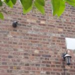 CCTV monitoring system on side of private property