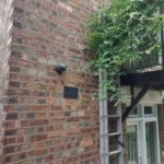CCTV system installed on side of private property