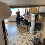 Camera view inside Grade 2 listed salon in Amersham